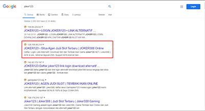 Kata Pencarian Google Joker123